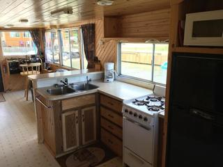 Houseboat galley and helm